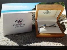 Why not take a photo of your rings while you're on your honeymoon! Your jeweller would absolutely love it. :)