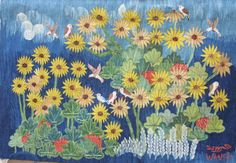 Garden Flowers by Mahrous Abdou 0.87 X 0.65 m