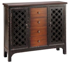 Shop for Stein World Alder Cabinet, and other Living Room Cabinets at Stein World in Memphis, TN. This beautiful cabinet will add stylish storage to any room. Crafted from birch veneers, it features a dark cherry finish, two doors and four center drawers. Cabinet Furniture, Home Furniture, Online Furniture, Country Furniture, Funky Furniture, Furniture Outlet, Kitchen Furniture, Furniture Ideas, Alder Cabinets