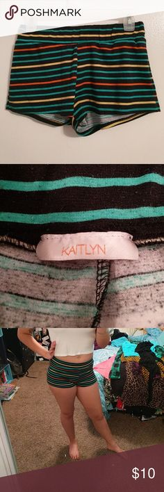 Stripped cotton shorts Comfy cotton high waisted shorts. kaitlyn Shorts