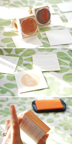 the curtis casa: DIY Stamped Business Cards