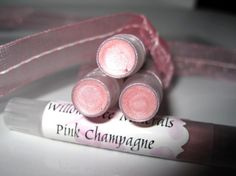 Pink Champagne  All Natural Mineral Lip by WillowTreeMinerals, $4.95