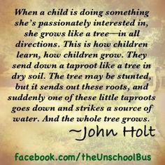 Another great John Holt quote. Waldorf Montessori, Montessori Quotes, Alternative Education, Education Quotes, Parenting Quotes, Peace Education, Parenting Classes, Parenting Ideas, Teacher Quotes