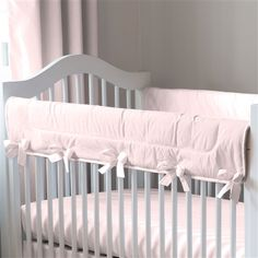 Solid Pink Crib Rail Cover  500x500 image