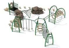 Noahs Park and Playgrounds - Coast Fitness Structure, Health and fitness will always be important for children. Why not make exercise fun with the Coast Fitness Structure?! This unit was designed with exercise in mind. Each climber is perfect for boosting upper and lower body strength.(http://www.noahsplay.com/playground-equipment-needs/developer/coast-fitness-structure/)