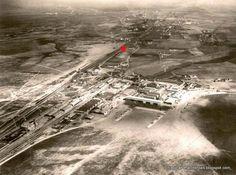 Cuatro Vientos el 19 de Febrero de 1935. El punto rojo indica el apartadero 11