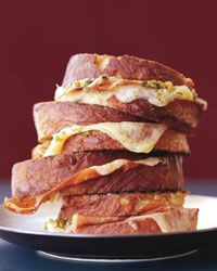 Grilled Ham-and-Cheese Sandwiches with Tapenade // More Delicious Grilled Cheese: http://www.foodandwine.com/slideshows/grilled-cheese #foodandwine