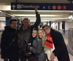 The Downton Abbey Cast on the subway!