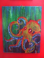 Octopus Painting - 1 by chemical-bomb