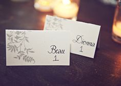 Name cards earth inspired