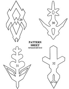 Paper Snowflake Cutting PATTERN easy to follow folding