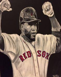 Big Papi David Ortiz paintingRed Sox by DsHandMadePaintings