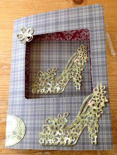 Card with shoe diecut Kaart met pump snijmal Snijmal van AliExpress