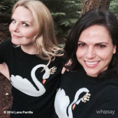 Birds of a sweater flock together... #Twinsies #SwanQueen @jenmorrisonlive