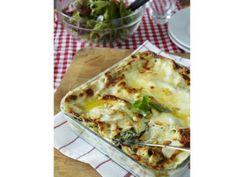 Vegetarisk lasagne med spenat