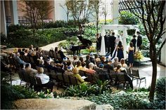 atrium wedding ceremony at the westin southfield atrium