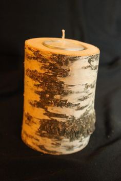 Handmade Wooden Candle holder, eco friendly, Birch, Halloween, Gift Ideas