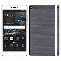 Brushed Cover für Huawei P8 Lite Schutz Hülle TPU Case Schutzhülle Silikon Cover Tasche in Anthrazit