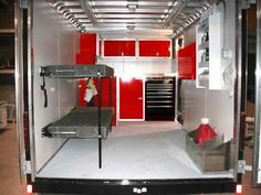 Cargo Trailer Conversion Ideas 29 Easy Diy Enclosed Trailer Storage Ideas Rv Storage - Camper And Travel penitifashion Box Trailer, Trailer Storage, Utility Trailer, Rv Storage, Storage Ideas, Trailer Build, Trailer Organization, Storage Solutions, Enclosed Trailer Camper