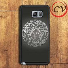 Versace White Logo Samsung Galaxy Note 6 Case