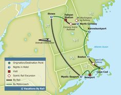 New England's Fall Foliage Express train tour.  7 day