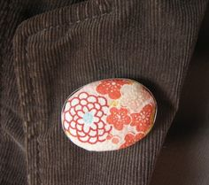 The Japan Collection, Fleurs Brooch Japanese Fabric, Jewelry Collection, Color Pop, Jewlery, Brooch, Unique, Handmade, Inspiration, Biblical Inspiration