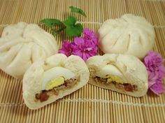 I've been kind of obsessed with Vietnamese Banh Bao (steamed rice bun sandwiches) and just found this recipe for a similar bun/breakfast sandwich!