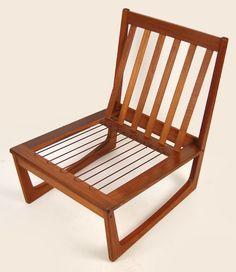 Poul volther model 340 lounge chair for frem rojle teak for Sedie design danese