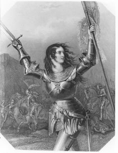 1819 Engraving of Joan of Arc in battle