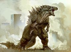 The King of Fatboss: Gojira, Godzilla, Tomayto, Tomahto | concept art by Greg Boadmore