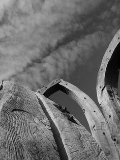 Wooden sculpture or art installation on Fort Pitt Hill Chatham  by Simon Bolton, Flickr - Photo Sharing!