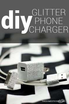 The Domestic Diva » DIY: Make Your iPhone Charger Glitter & Sparkle with Duck Tape