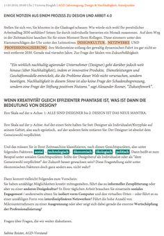 Thinktank Design 2030 – Zukunft immer wieder anders. AGD Allianz deutscher Designer