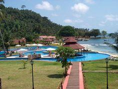 Resort in Ilhéu das Rolas, São Tomé and Prícinpe ◆São Tomé and Príncipe - Wikipedia https://en.wikipedia.org/wiki/S%C3%A3o_Tom%C3%A9_and_Pr%C3%ADncipe #Sao_Tome_and_Principe