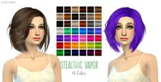 Nessa sims's Retexture / Edit Alesso`s Galactic hairstyle retextured Long hairstyles for Females ~ Sims 4 Hairs Medium Hair Styles, Short Hair Styles, Sims 4 Blog, Download Hair, Alesso, Sims Hair, Sims 4 Update, Sims 4 Cc Finds, The Sims4