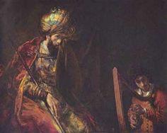 David playing the harp Before Saul (1657), Rembrandt van Rijn