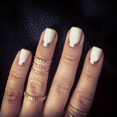White + gold.