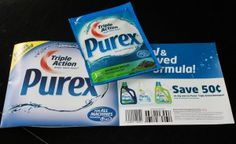 Maureen's Mailbag – Purex Triple Action       I received my free sample in the mail, along with a coupon, and purex works great for the price...smellls good too!