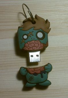Zombie USB Keychain... how cute!! http://cdn.shopify.com/s/files/1/0163/8474/products/imag496.jpg?228