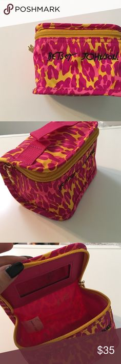 | new | • Betsey Johnson Pink Cheetah Bag • Description coming soon!✨ Betsey Johnson Bags Cosmetic Bags & Cases