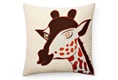 Giraffe Pillow, Natural/Brown on OneKingsLane.com...@Christina Toland...tell me you can make me this!!!