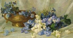 Alice Brown Chittenden Still Life with Violets 1891