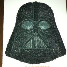 Darth Vader Cake (I made for my boyfriend's 38th birthday) I used a star tip & small & medium circle tip