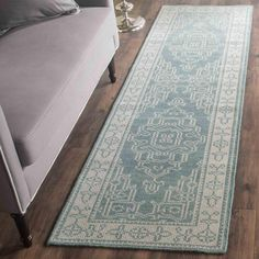Kenya Collection KNY638A Color: Ivory / Blue KNY638A - #safavieh #safaviehrugs #safaviehrunners #rugrunners #rugs #hallwayrugs #entrywayrugs #staircaserugs #staircasecarpets #entrywaycarpts #bedroomrugs #livingroomrugs #diningroomrugs #kitchenrugs #hallwaydecor #entrywaydecor #shoprugs #runnercarpets #bluerunnerrug #tauperunnerrug