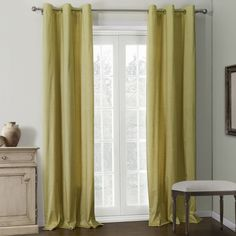 Solid Champagne Coating Thermal Curtain  #curtains #homedecor #decor #homeinterior #interior #design #custommade Cheap Curtains, Drapes Curtains, Valances, Thermal Curtains, Room Darkening, Window Coverings, Custom Made, Windows, Living Room