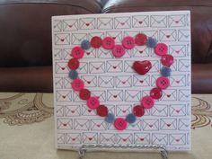Valentine Ceramic Tiles, Valentine Decor, Valentine Heart, Heart Tiles, Valentine Artwork Tiles,Button Heart Decorative Tile,Decorative Tile by BrownBeaverBeadery on Etsy