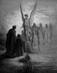 Illustration For Purgatorio By Dante Alighieri Canto Ii Lines 42 And 43 By Gustave Dore French Artist And Illustrator Poster Print x Gustave Dore, Dante Alighieri, Gravure Illustration, Illustration Art, Art Illustrations, Tag Art, Dantes Inferno, Street Art, Graffiti