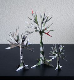 http://randomcreative.hubpages.com/hub/Junk-Mail-Arts-Crafts-Recycle-Unique-Paper-Projects