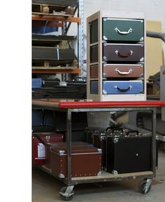 put all the equipment needed for a project one trunk. take it to go, take it outside, or just have it ready. you can work on more than one project and keep it tidy.