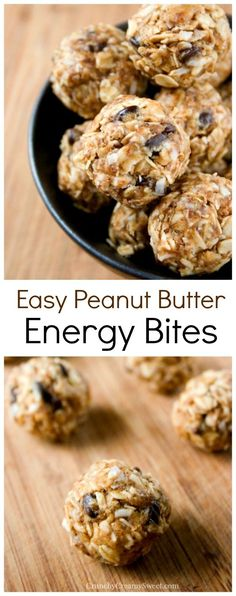 Diet Snacks Peanut Butter Energy Bites - quick and easy bites packed with flavor and so good for you! Great snack for busy days! - Peanut Butter Energy Bites - quick and easy bites packed with flavor and so good for you! Great snack for busy days! Healthy Sweets, Healthy Cooking, Healthy Snacks, Healthy Eating, Healthy Recipes, Diet Snacks, Protein Snacks, Protein Bars, Energy Snacks